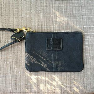 Mini Black COACH wristlet